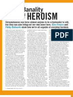 The Banality of Heroism - Franco & Zimbardo 2006-2007 - Greater Good