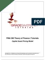 FINA 385 Theory of Finance I Tutorials CAPM