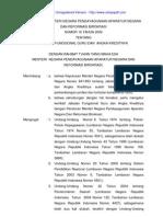 Peraturan MENPAN No 16 Thn 2009