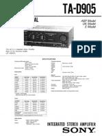 Sony TAD905 Amp