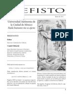 Revista de divulgación científica Mefisto No. 04