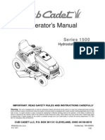 Cub Cadet 1525 Lawn Mower - Owner's Manual