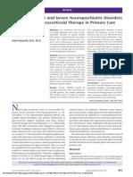 Conductas suicidas y trastornos neuropsiquiátricos post corticoides