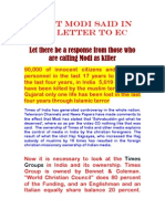 What Modi Said in His Letter to EC