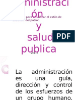 Administración y salud publica