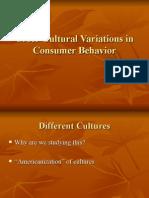 Cross-Cultural Variations in Consumer Behavior
