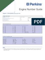Perkins Engine Number Guide (UK)