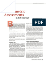 Role of Psycho Metric Assessments in HR Strategy