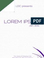 Lorem Ipsum 2011