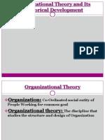 Historical Development of Organizational Theory