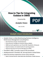 How-To Tips for Integrating Essbase Into OBIEE