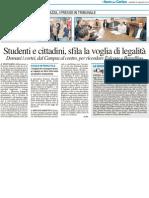 Studenti e cittadini, sfila la voglia di legalità - Il Resto del Carlino del 22 maggio 2012