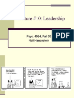 Lecture #10 Leadership