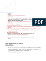 Procedure for Form 1