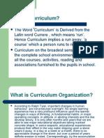 Designs of Curriculum Organization