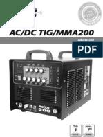 Manual Em Ingles e Bem Explicado Tig 200 Acdc