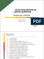 Valores Límite   2011-2012