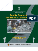 Quality Assurance Hand Book for Rural Roads VolumeII