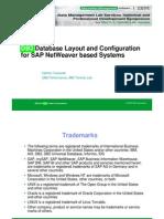 SAP DB2 Storage Layout