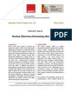 Nuclear dilemmas remaining after Chicago