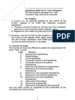 Mechanical Engineering R09 Course Structure and All Four Years Syllabus 2011-12
