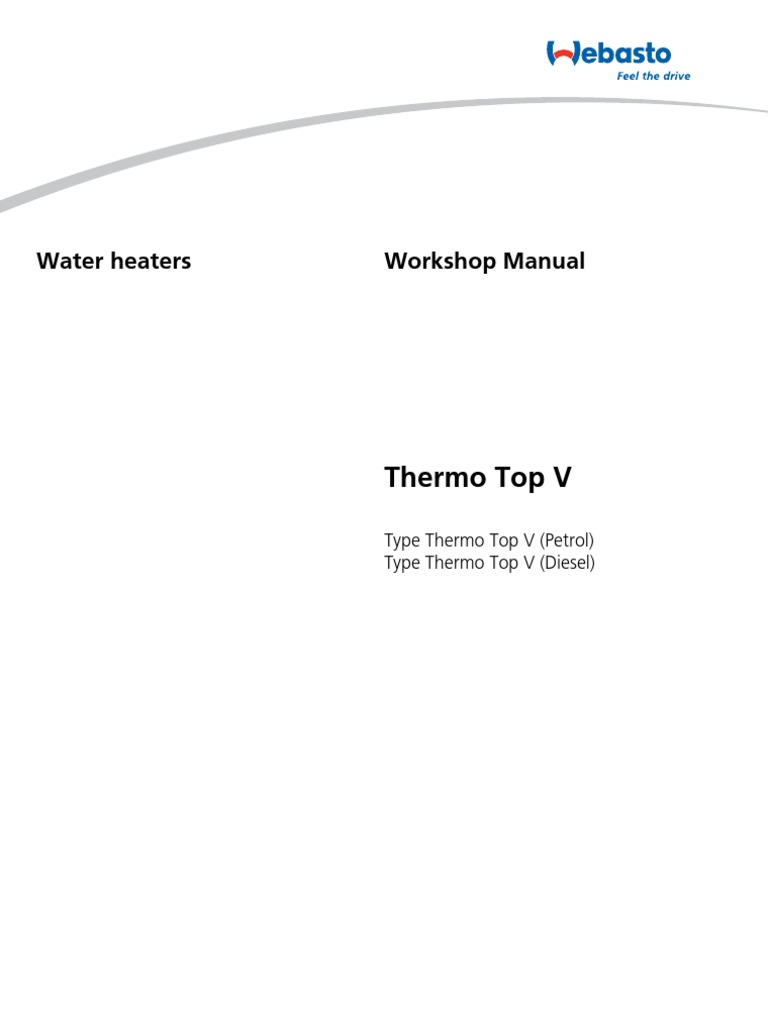 workshop manual thermo top v en web hvac combustion rh pt scribd com webasto thermo top c workshop manual Webasto Thermo Top C Enclosure