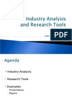 Industry Analysis and Reasearch Tools
