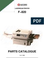 Kyocera F-820 Parts Manual
