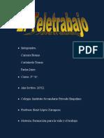 """Documento PDF sobre """"El teletrabajo"""""""