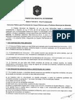 Edital n001 2012 Nivel Fundamental