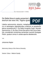 Johannes Kepler - De Stella Nova ... (1606)