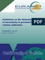 EURAMET Cg-19 v 2.0 Guidelines in Uncertainty Volume 01