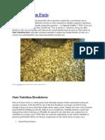Oats & Ragi Nutrition Facts