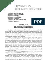 58989710 KYBALION Cele Sapte Principii Hermetice
