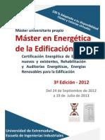 Master en Energética de la Edificación 3ª Ed.