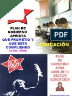 Avances Plan de Gobierno Apra Educacion