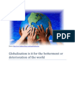 Effects of Globalization on Pollution