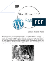 WordPress 101 - Pages