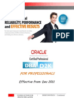 Oracle DBA Course Content for Professionals