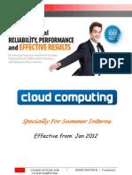 6 Weeks Summer Training Cloud Computing