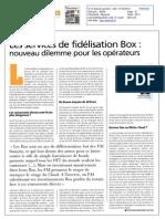 Les services de fidélisation Box