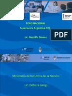 Foro Nacional - Experiencia Argentina DEL