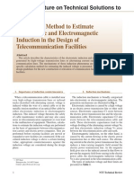 Calculation Method to Estimate Electrostatic and Electromagnetic Induction in the Design of Telecommunication Facilities