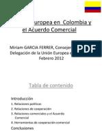 Intercambio de Secretarias Departamentales – Tratado de Libre Comercio Unión Europea- Colombia.