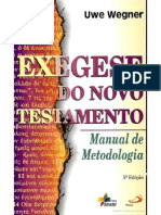 Exegese Do Novo Test Amen To- Manual de Metodologia Por Uwe Wegner