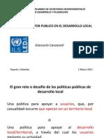 Intercambio de Secretarias Departamentales - El papel del sector público en el Desarrollo Local