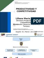 Intercambio de Secretarias Departamentales - Productividad y Competitividad del Ministerio de Comercio, Industria y Turismo.