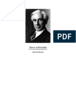 ( eBook - PDF - EnG) Russell, Bertrand - Theory of Knowledge ( Philosophy Education)