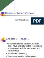 Heroes Essay Heroes Robert Cormier Key Quotations