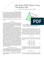 An Unconditionally Stable FDTD Method Using Tetrahedral Cells